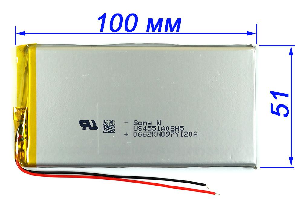 2800mAh 3.7v 4551100 Аккумулятор для планшета