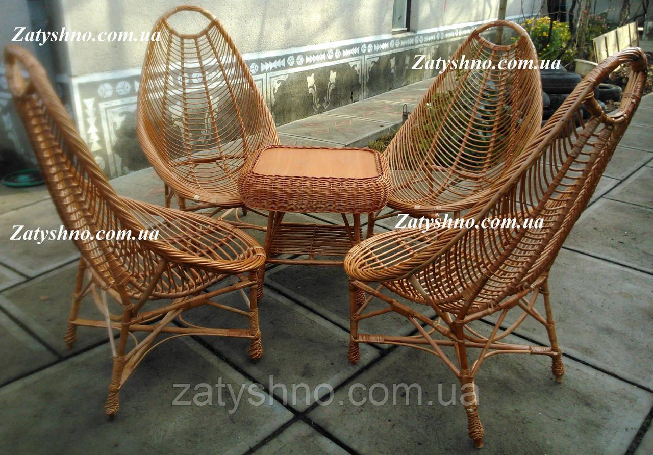 Плетеная мебель из натуральной лозы