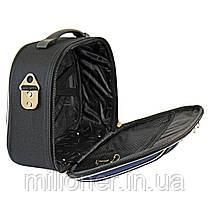 Сумка кейс саквояж 3в1 Bonro Style черно-вишневый, фото 3
