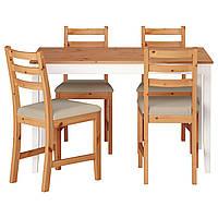 Стол и 4 стула IKEA LERHAMN ИКЕА S19007172