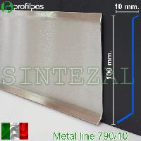 Высокий плинтус из нержавеющей стали, высота 100 мм.