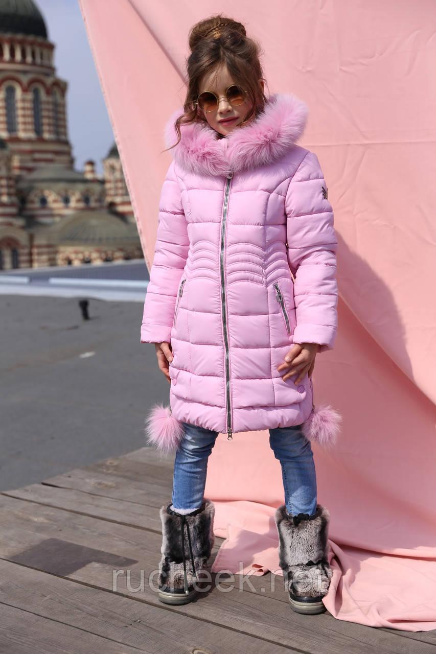 Зимняя куртка с натральным мехом Кина-2  новая зимняя коллекция 2018/2