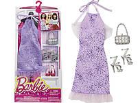 Комплект одежды Барби Игра с модой – Фиолетовое платье с аксессуарами DNV26, фото 3