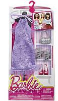 Комплект одежды Барби Игра с модой – Фиолетовое платье с аксессуарами DNV26, фото 4