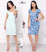 Женское базовое платье до колен (в ассортименте)