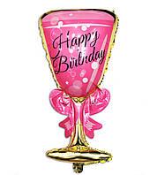 Фольгированный шар бокал розовый 92 см