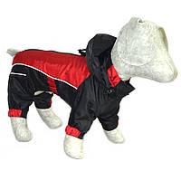 Комбинезон-дождевик с капюшоном для собак черный