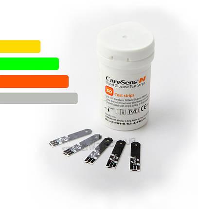 Тест-полоски для глюкометра CareSens N #50 - Кеар Сенс Н, фото 2