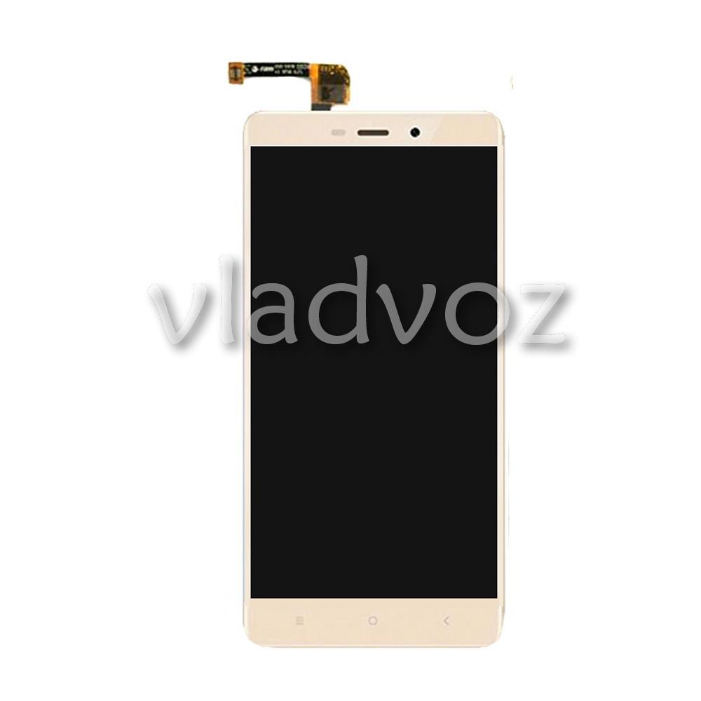 Дисплей модуль экран с сенсором для замены на Xiaomi Redmi 4, Prime 4, 4 Pro LCD золотой