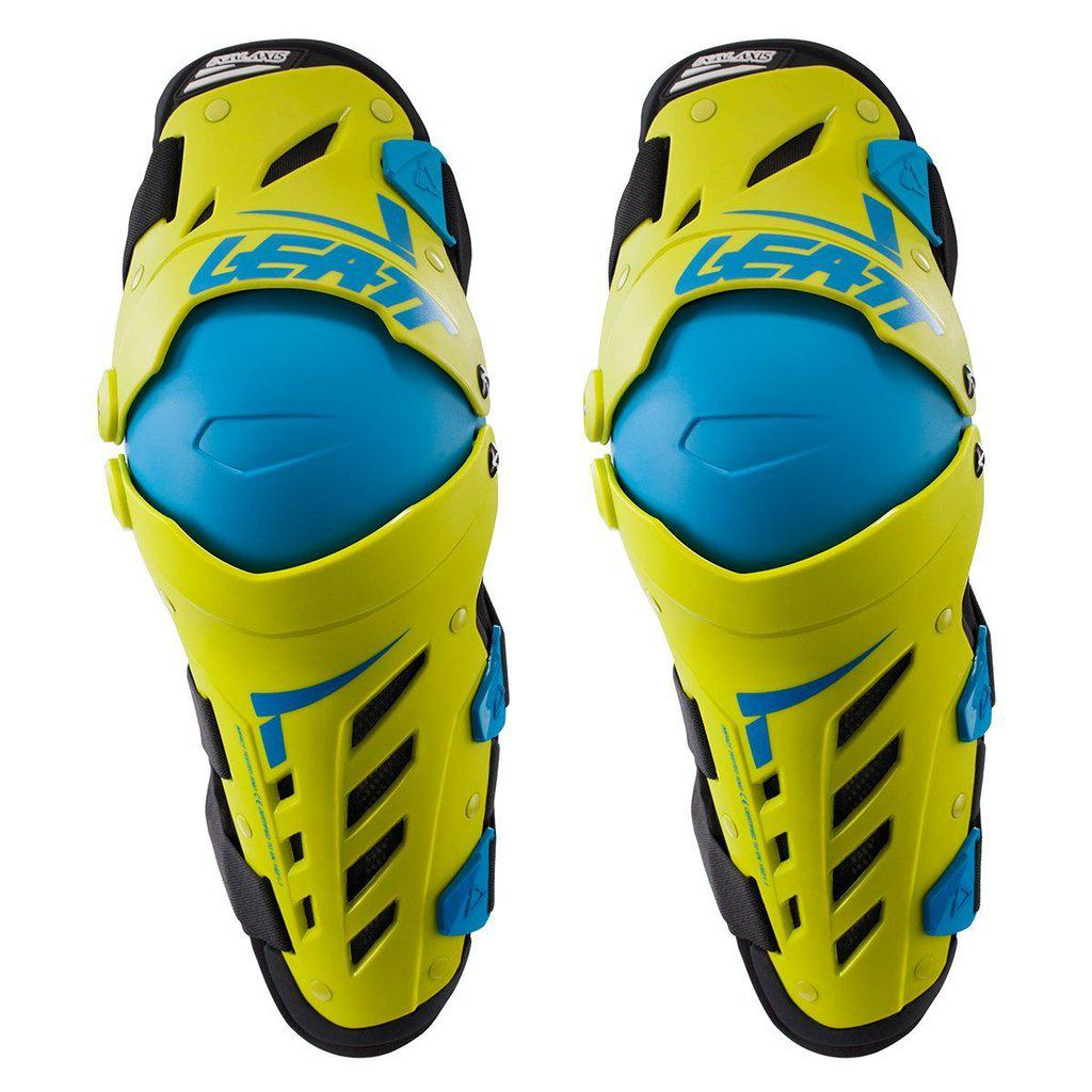 Мотонаколенники Leatt Dual Axis Yellow Blue L-XL