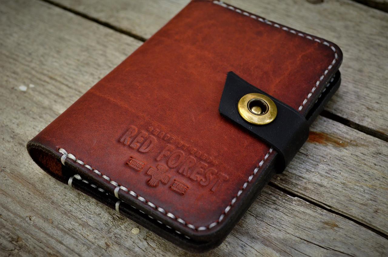 245f2f8bf00d Документница, обложка для документов, кошелек из натуральной кожи краст ручной  работы - Red Forest