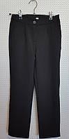 Черные школьные брюки на девочку р.134-152 темно-синие в полосочку