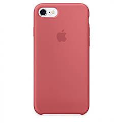 Чехол накладка Silicone Case для iPhone 7/8 - Camellia Red