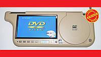 """Авто козырек 7"""" с DVD+USB+SD Бежевый, фото 1"""
