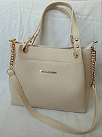 Женская сумка Michael Kors (Майкл Корс), бежевая, фото 1