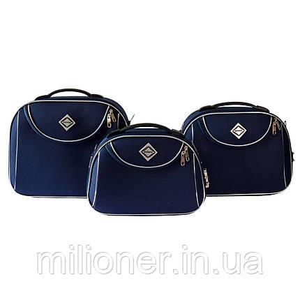 Сумка кейс саквояж 3в1 Bonro Style синий, фото 2