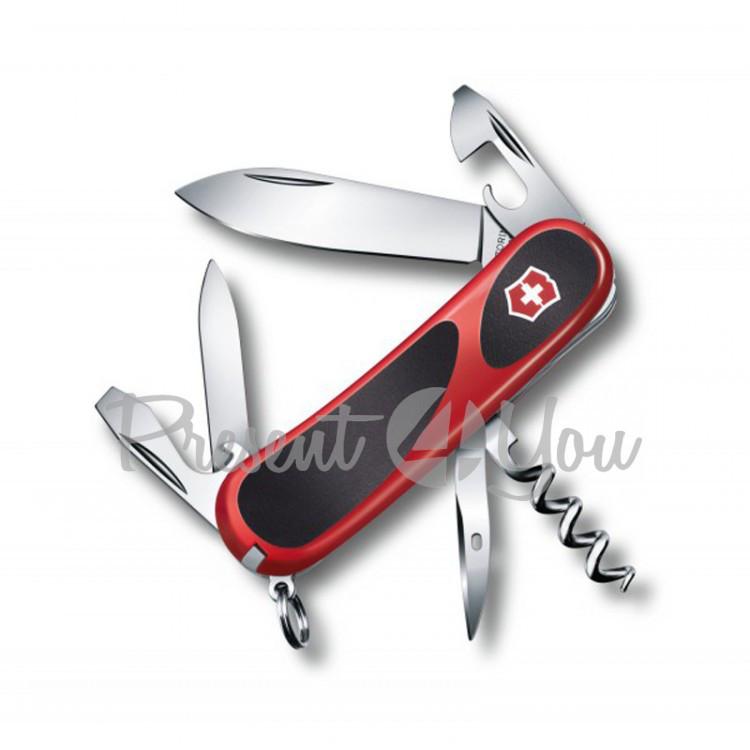 Нож красный - EVOLOTION из высокопрочной нержавеющей стали Victorinox, 8,5 см