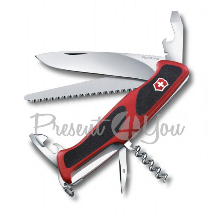 Нож красно-черный - RANGERGRIP из высокопрочной нержавеющей стали Victorinox