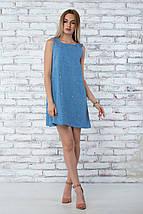 """Платье летнее """"Грейс"""" - цвет синий, фото 3"""