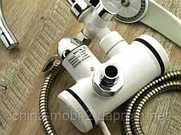 Кран LZ008 Делімано з душем 3000W, Проточний водонагрівач з вертикальним підключенням, фото 2
