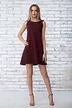 """Платье летнее """"Грейс"""" - цвет бордо, фото 2"""