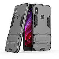 Чехол Xiaomi Redmi Note 5 / Note 5 Global / Note 5 Pro Hybrid Armored Case темно-серый