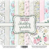 Набор бумаги Shabby garden, 20х20 см, 10 листов, фото 1