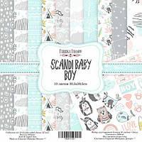 Набор бумаги Scandi Baby Boy, 30х30 см, 10 листов, фото 1