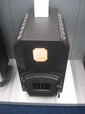 Трубная печь на дровах ТОП-300 с чугунной дверцей со стеклом, фото 2