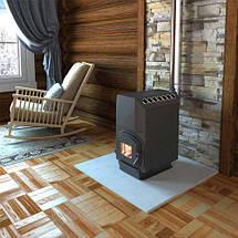 Трубная печь на дровах ТОП-300 с чугунной дверцей со стеклом, фото 3