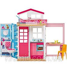 Игровой набор Дом Барби двухэтажный переносной с мебелью Barbie House with Furniture & Accessories