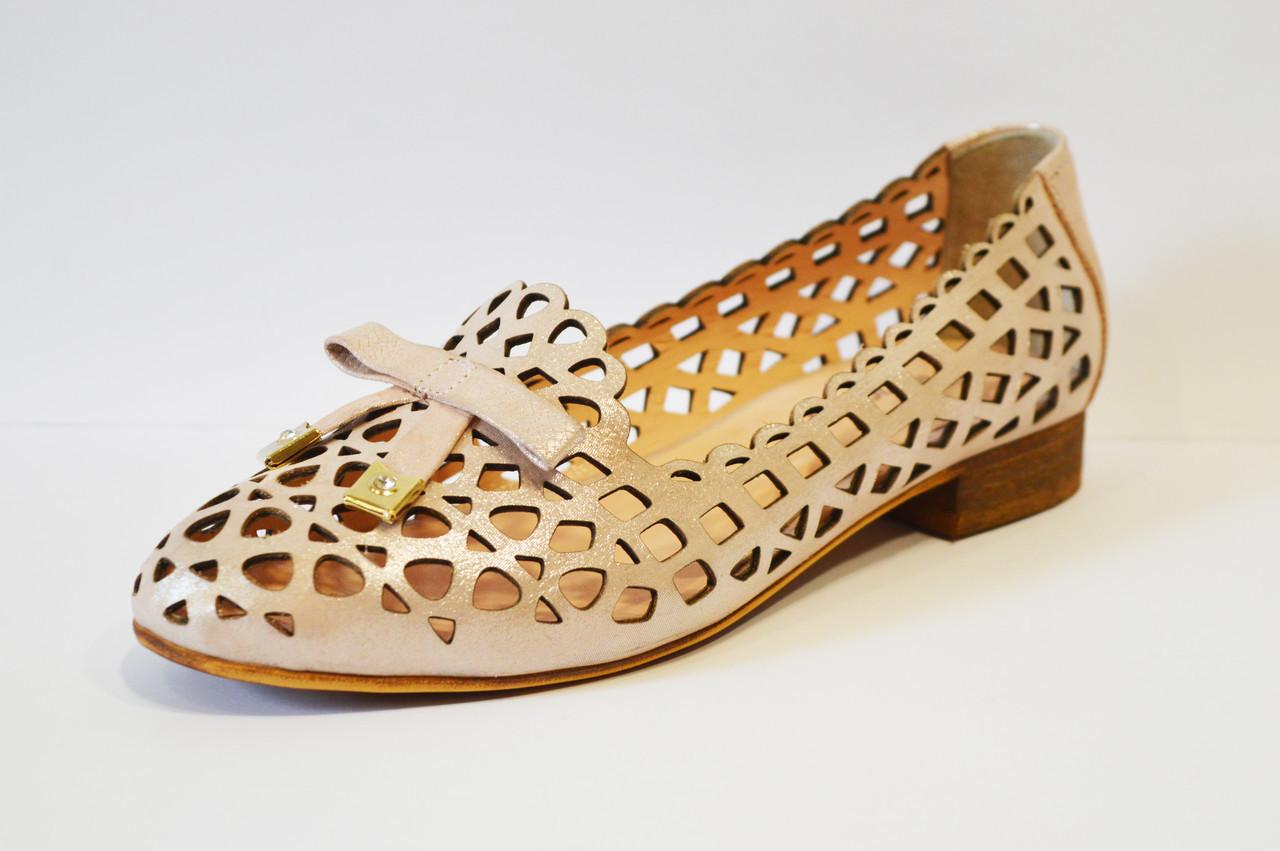 44ff3ad6d Балетки женские перфорированные кожасатен Evromoda - КРЕЩАТИК - интернет  магазин обуви в Александрии