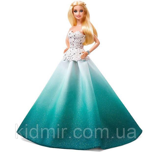 Кукла Барби Коллекционная Праздничная 2016 в бирюзовом Barbie Collector Holiday DGX98