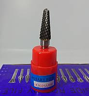 Борфреза конічна (LX) 10х25х6 c закругленою вершиною твердосплавна