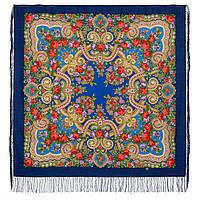Серенада 11-13, павлопосадский платок шерстяной с шелковой бахромой Стандарт, фото 1