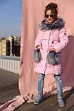 Новинка - пуховик для девочки р 116 - 158, модель Полианна зима 2018/2019 Nui very, фото 5
