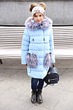 Новинка - пуховик для девочки р 116 - 158, модель Полианна зима 2018/2019 Nui very, фото 6