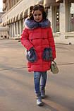 Новинка - пуховик для девочки р 116 - 158, модель Полианна зима 2018/2019 Nui very, фото 7