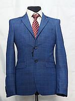 Молодёжный приталенный пиджак в клетку для юноши Victor Enzo 5005