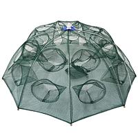 Раколовка зонтик два этажа, 20 входов , прочная и надежная, диаметр 100 см, фото 1