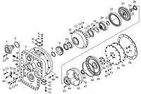 Запчасти на коробку передач ZL40/50 на погрузчик ZL50G XCMG, SEM, Petronik, Foton, TOTA, LW541 XZ656 XG955