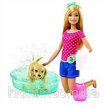 Лялька Барбі з собачкою Веселе купання цуценя Barbie Splish Splash Pup DGY83