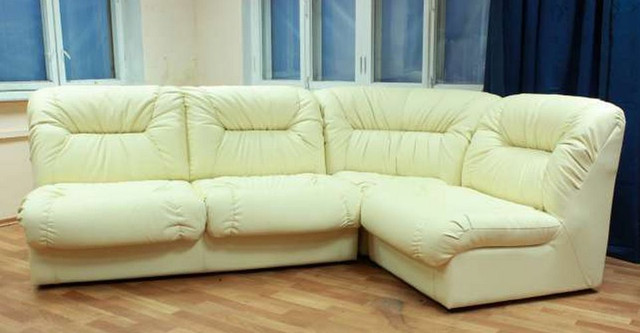 Офисный диван Визит (VIZIT) Экокожа H-17 бежевый. Модульный.
