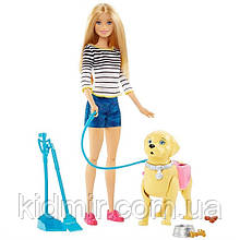 Кукла Барби Прогулка с питомцем Barbie Walk and Potty DWJ68