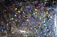 Ромбики для дизайна ногтей. Цвет: серебро голографик