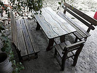 Комплект садовой мебели ручной работы из сосны