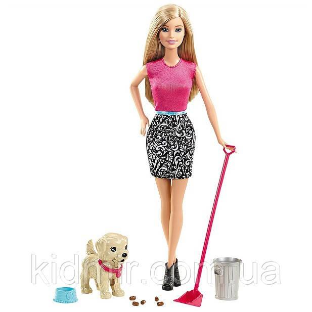 Кукла Барби с собакой Веселая прогулка Barbie Potty Trainin Pup CFN43
