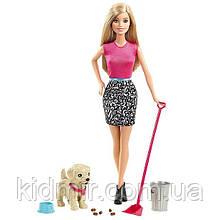 Лялька Барбі з собакою Весела прогулянка Barbie Potty Trainin Pup CFN43