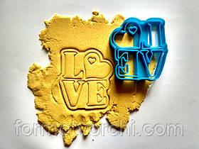 """3D формочки-вырубки для пряников""""Love 2"""""""
