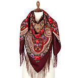 Серенада 11-6, павлопосадский платок шерстяной с шелковой бахромой, фото 2